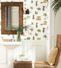 Love a tropical themed bathroom! Check out Thibaut's Hula ...