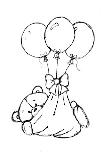 17 Best images about Coloring pages: Teddy Bears on