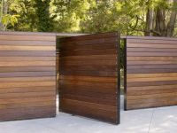 wooden slat fence and gate, hideaway gate! | dream home ...