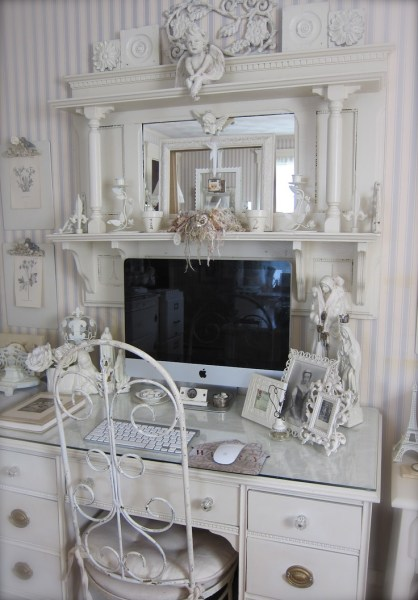 shabby chic home office ideas 96 best images about Shabby Chic Home Office on Pinterest | Romantic, Shabby chic desk and Kelly