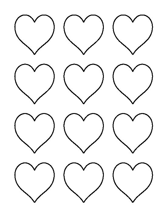2 inch heart pattern. Use the printable outline for crafts