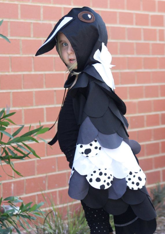 The Magpie  Handmade Childrens Costume  Fancy dress