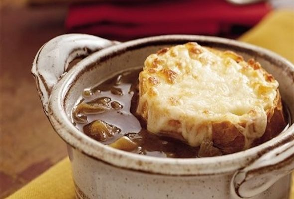 French Onion Soup – healthy crock pot recipe – 2 Weight Watchers Points Plus, on