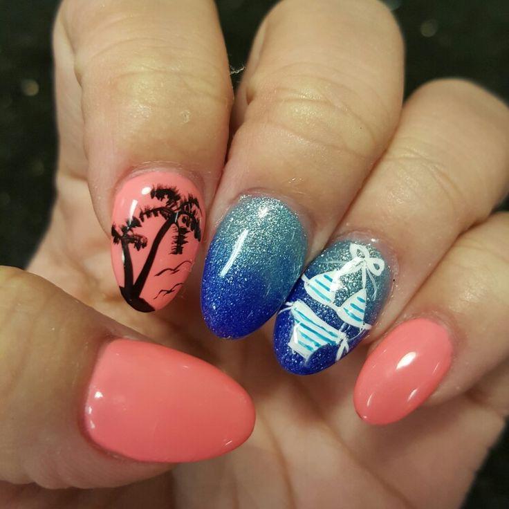 50 Tropical Nail Art Designs For Summer