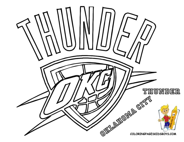 Thunder, Coloring pages and NFL on Pinterest