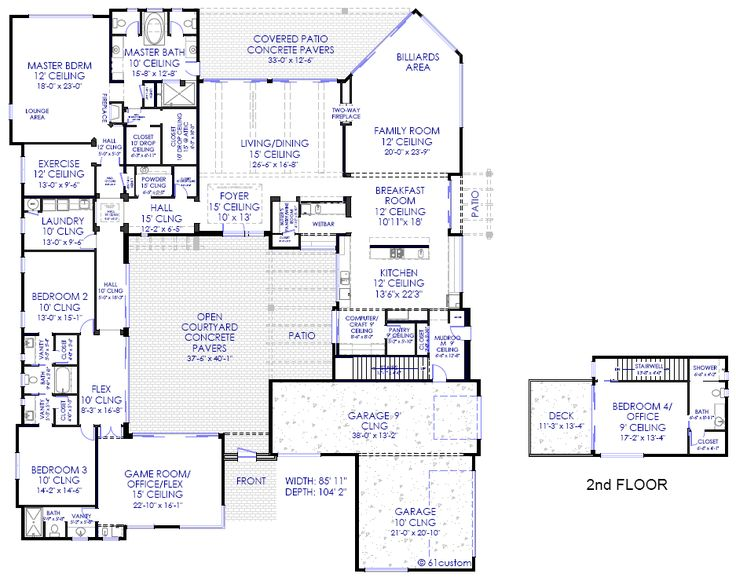 25 Best Ideas About Courtyard House Plans On Pinterest Interior
