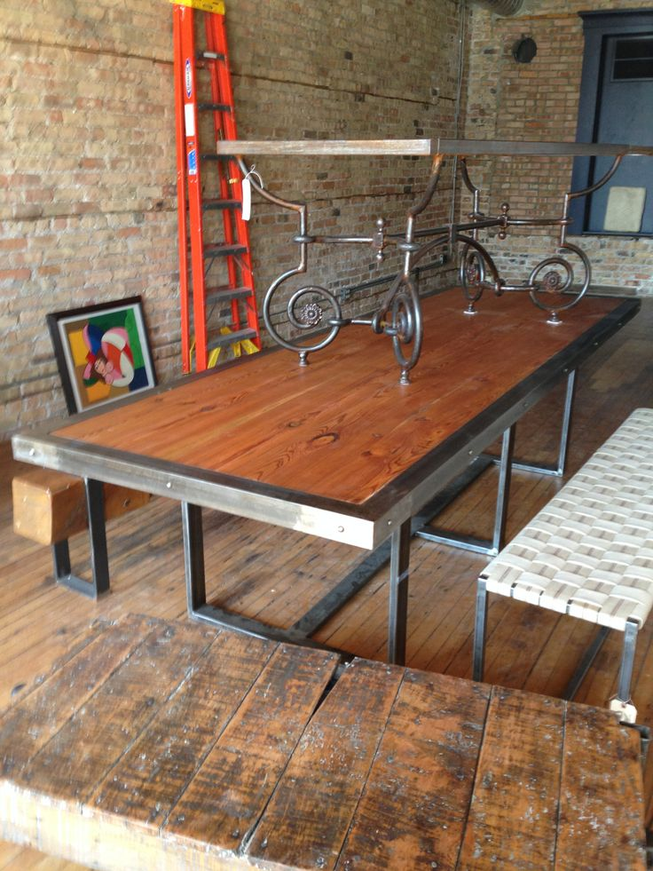 now thats a dining table Old bowling alley lanes wood