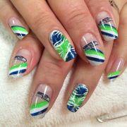 seahawks fingernail art sb48
