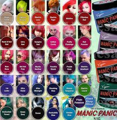 17 Best Ideas About Manic Panic Color Chart On Pinterest