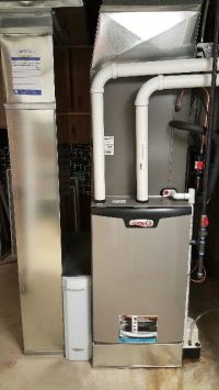 Lennox SLP98- 98% efficient modulating furnace installed ...