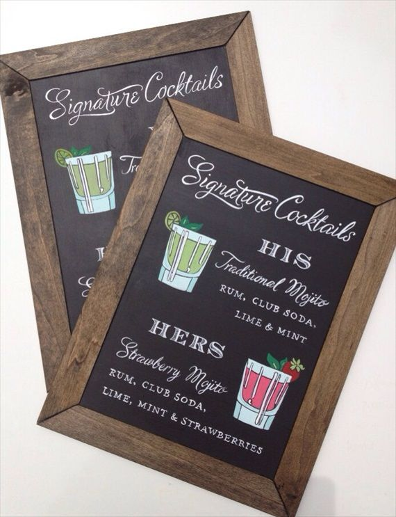 7 Clever Wedding Drink Accessories Sign Paper Tangent