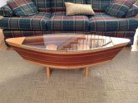 Canoe Coffee Table Boat Shelf 5ft Canoe Shaped Coffee Sofa ...