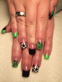 25+ best ideas about Soccer nails on Pinterest