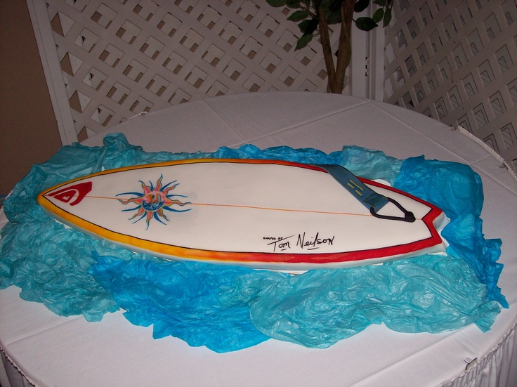 Surfboard Cake Birthday Cakes Pinterest Surfboard