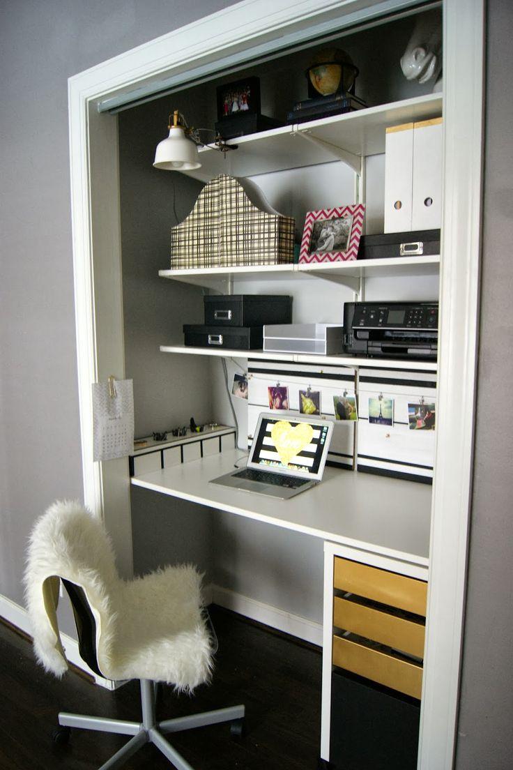 25 Best Ideas about Closet Desk on Pinterest  Closet