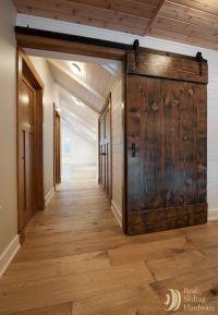 Barn doors made from reclaimed Douglas fir salvaged from a ...