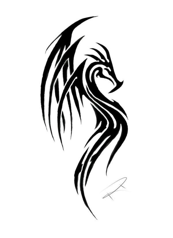 25 best ideas about Tribal dragon tattoos on Pinterest
