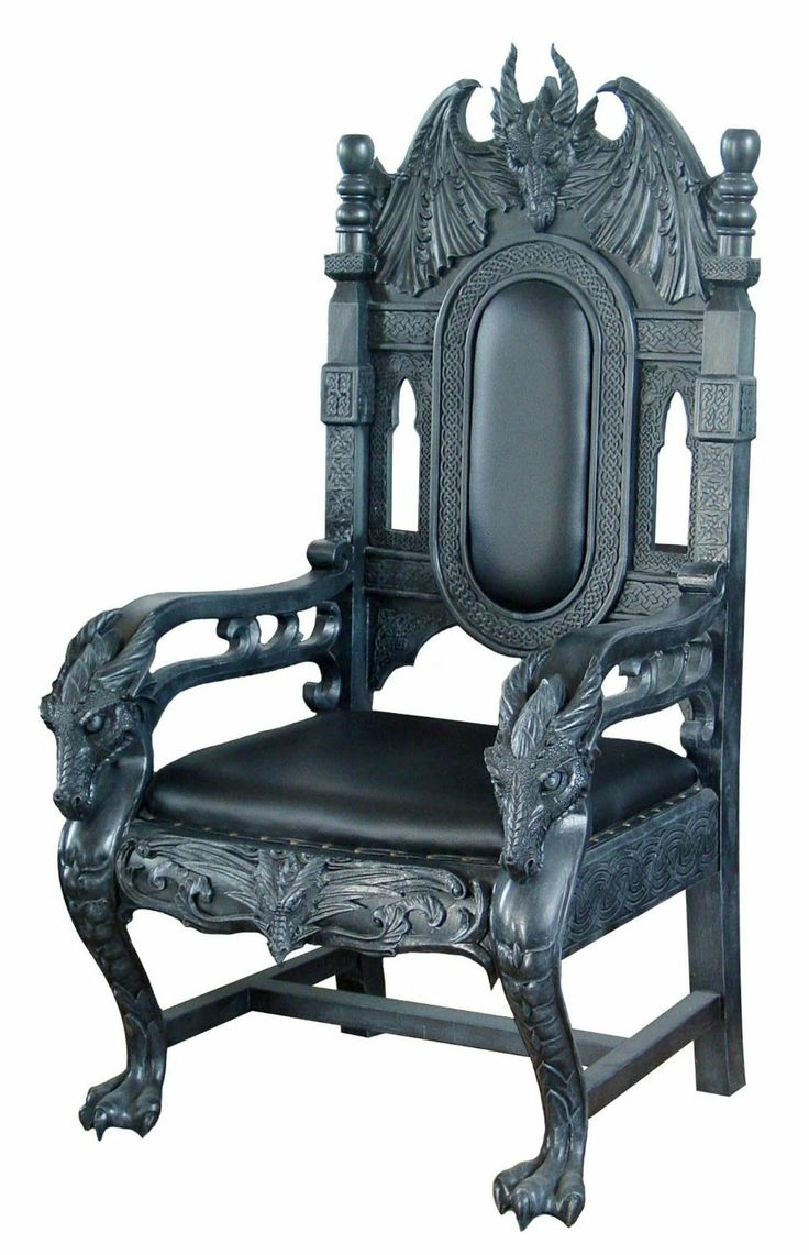 black gothic throne chair deck covers dragon   a delightfully house pinterest chairs, and king