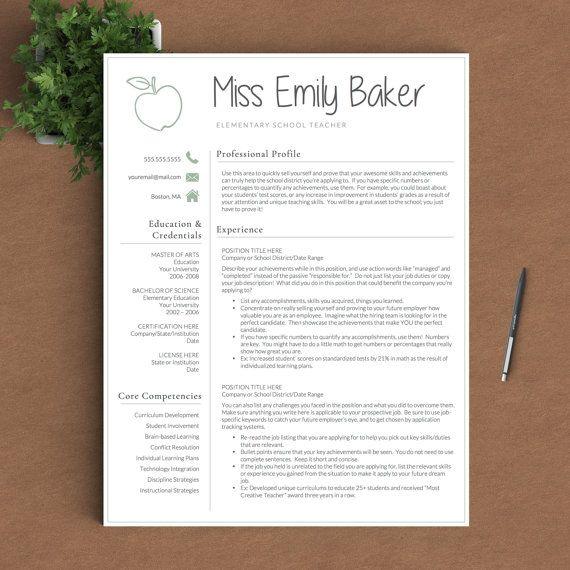 Best 25 Teacher Resume Template ideas on Pinterest  Assistant teacher jobs Teacher interviews