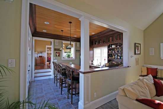 for diningkitchen Half Wall With Column Design Pictures