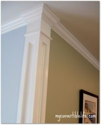 Add trim work at the corner of the room to create a column ...