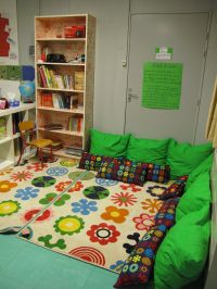 Use big pillows to create a cozy reading corner in your ...