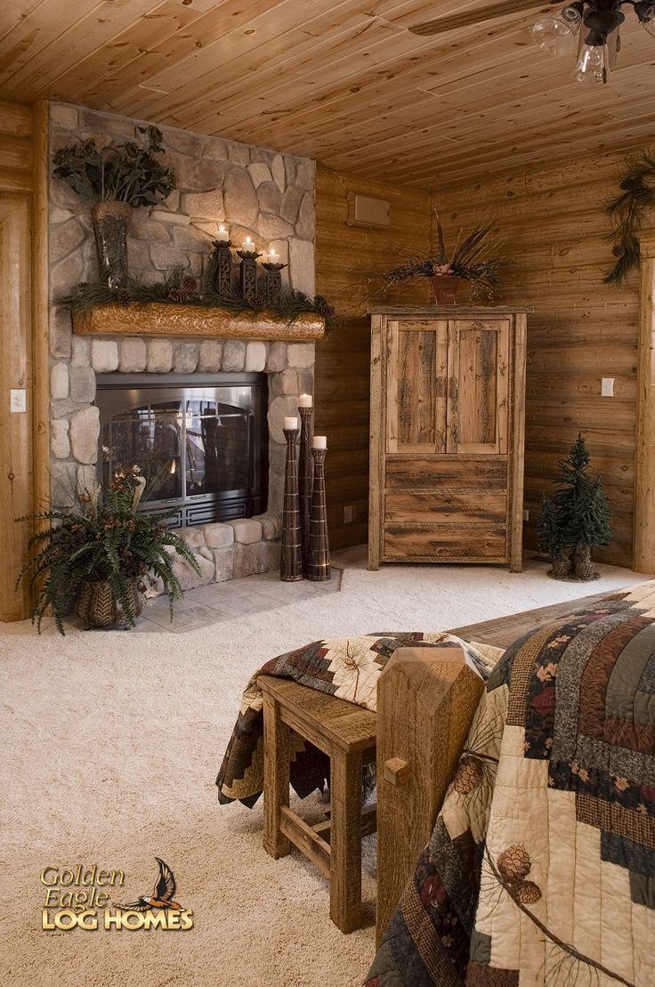 25 Best Ideas about Log Home Bedroom on Pinterest  Log