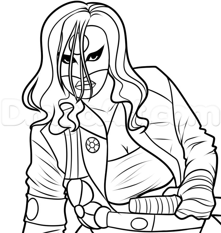 Drawing Katana From Suicide Squad, Step by Step, Dc Comics