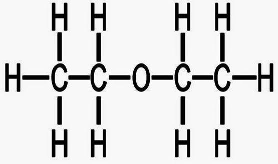 Two-dimensional molecular structure of ethoxyethane