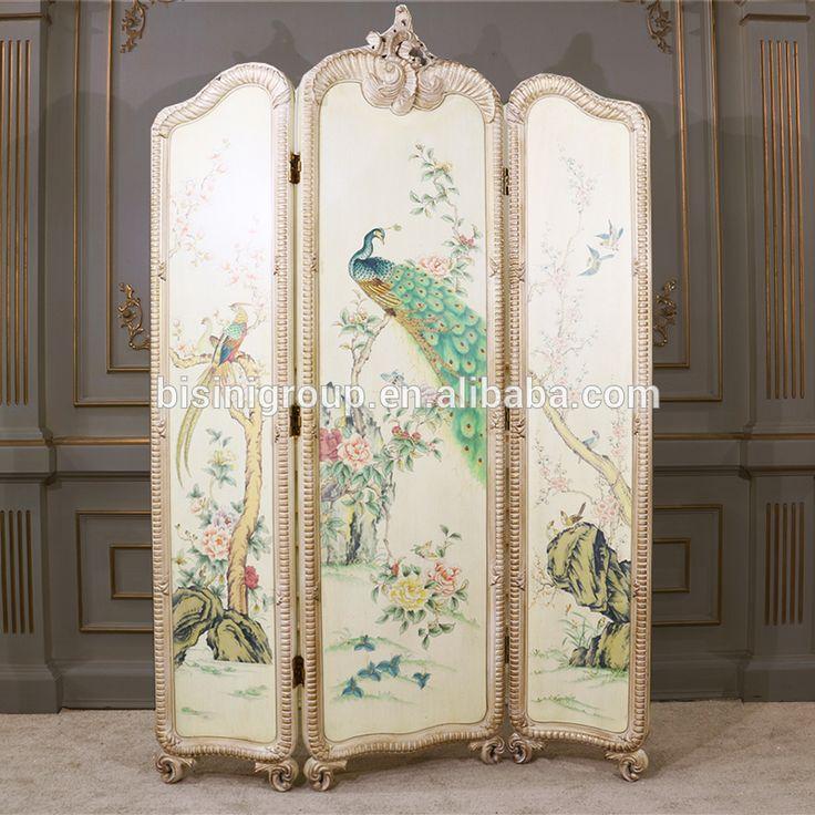Elegant Artistic European Vintage Folding Screen,Noble