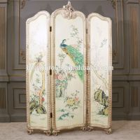 Elegant Artistic European Vintage Folding Screen,Noble