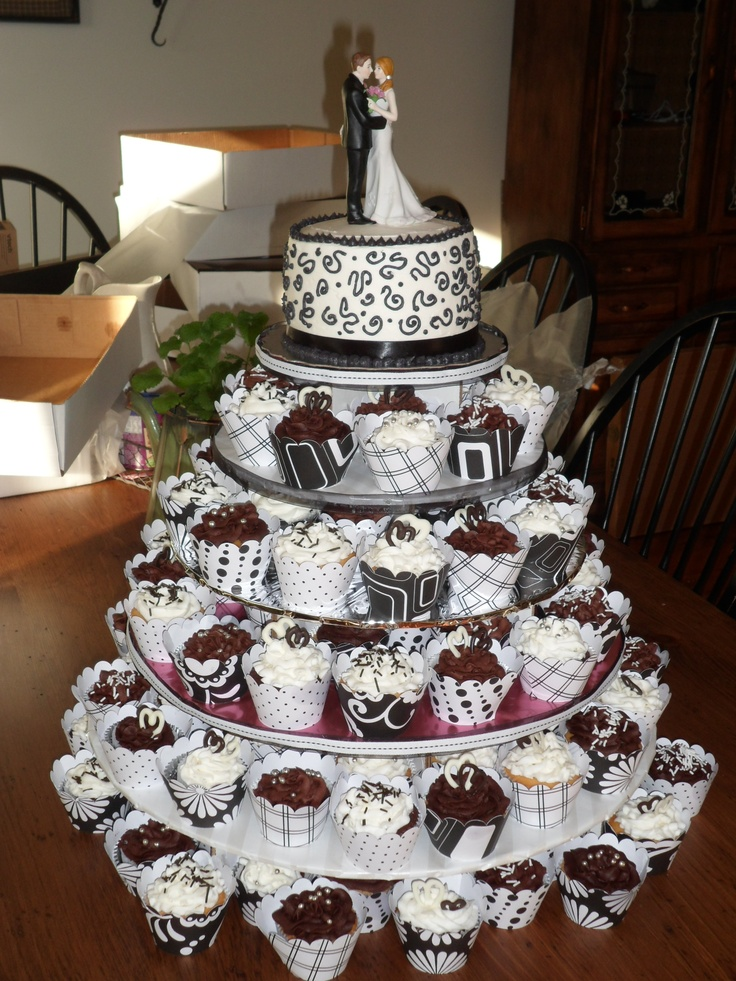 1000 images about Wedding Cupcake Towers on Pinterest  Wedding Wedding cupcakes and Hot pink
