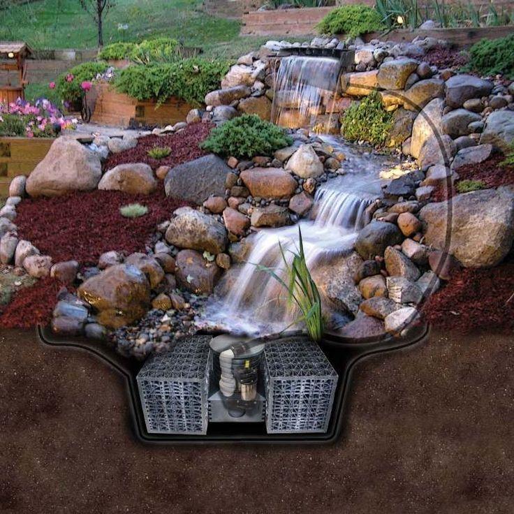 bachlauf im steingarten steingarten hauseingang steingarten, Garten ideen