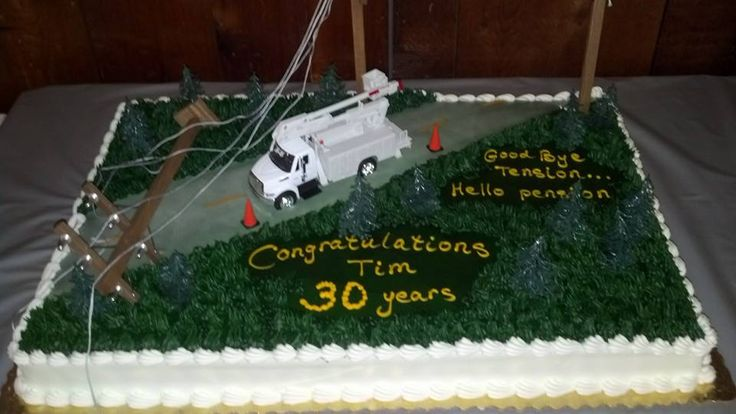 Lineman Cake My Husband Retired After 30 Years This Is
