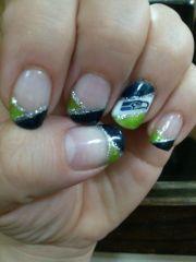 seattle seahawks shellac manicure