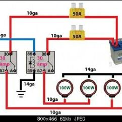 Led Light Bar Relay Wiring Diagram Honeywell Central Heating Programmer Off Road -. | Automotive Electronics Pinterest Lights And Roads