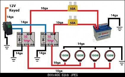 wiring diagram 4 spotlights inventory management data flow off road light -. | automotive electronics pinterest lights and roads