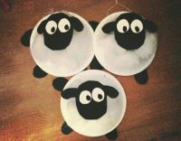 Shaun the sheep paper plate craft