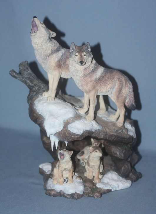 Danbury Mint  Nick Bibby Wolf Figurine Wilderness Call  Figurines  sculptures 4  Pinterest
