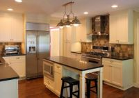 Platinum Kitchens: Kitchens. Island with seating in narrow ...