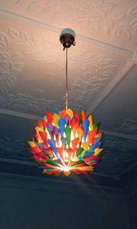 Rainbow - Multi Colored Paper Cone Pendant Light - Hanging ...