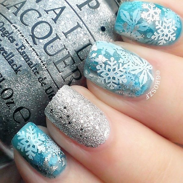 The 25+ best ideas about Snowflake Nails on Pinterest