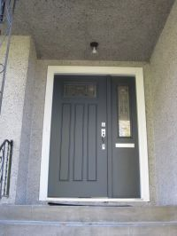 front door color is BM wrought iron | House Remodel ...
