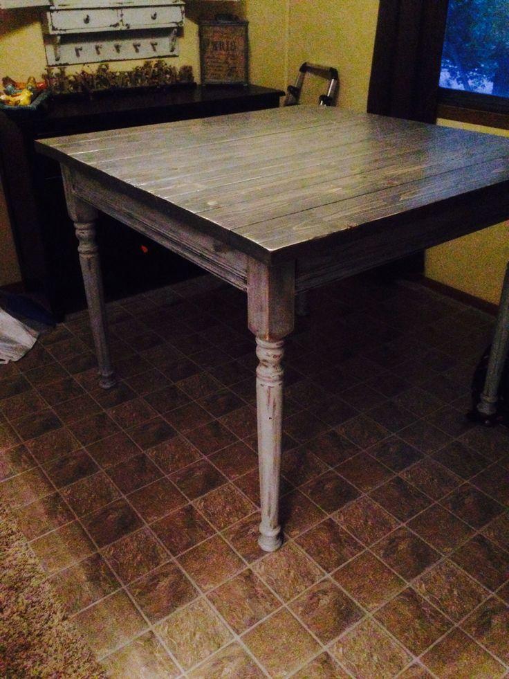 Diy Counter Height Farmhouse Table Diy Pinterest