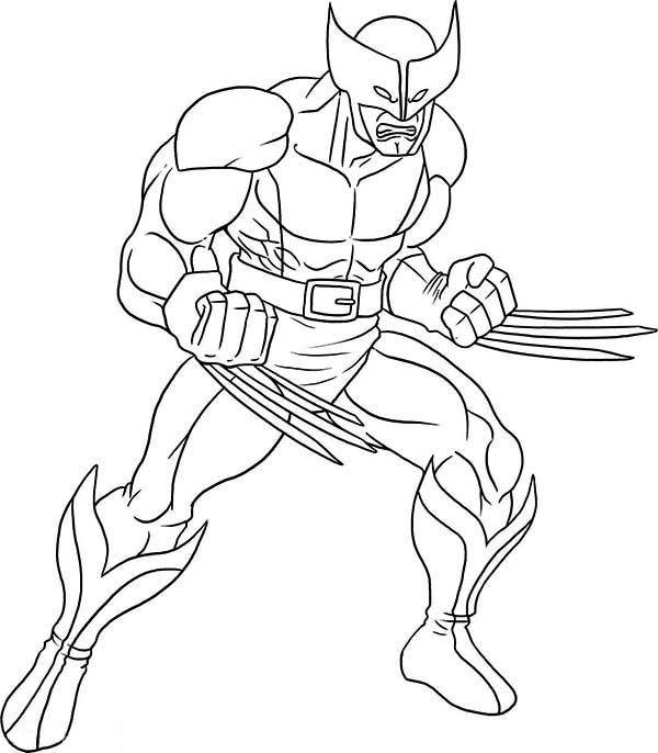 x men wolverine coloring page  superhero patterns