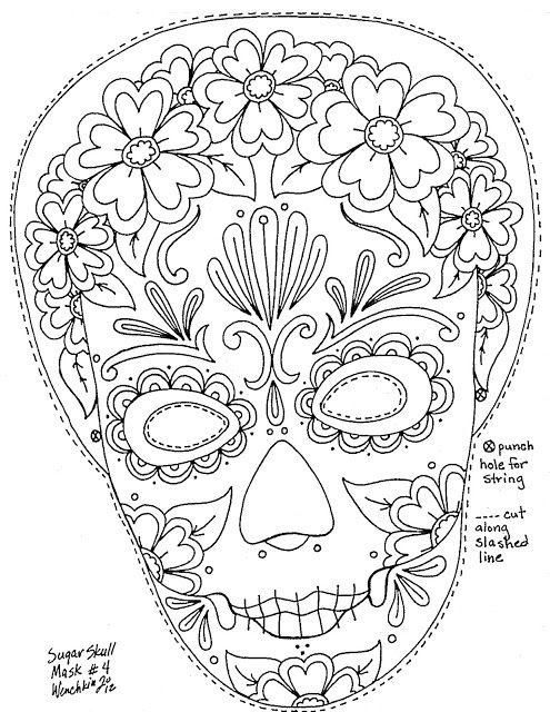 1000+ images about Day of the dead color pages on