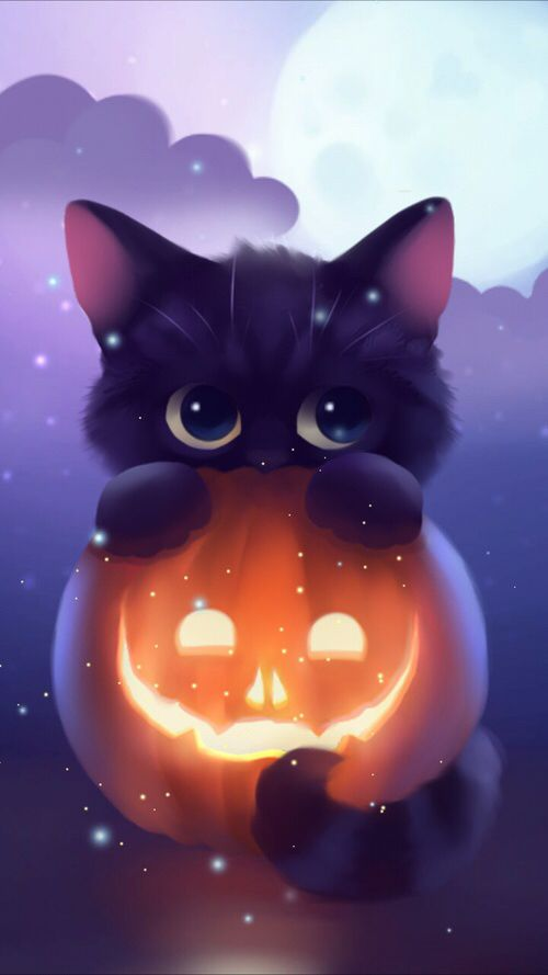 Cat Witch Nail Art Halloween And