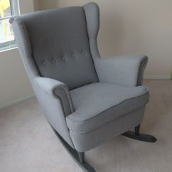 Comfy Nursing Chair Swivel Barrel Ikea Hack: Strandmon Rocker {diy Wingback Rocking Chair} | A Mod, Rockers And