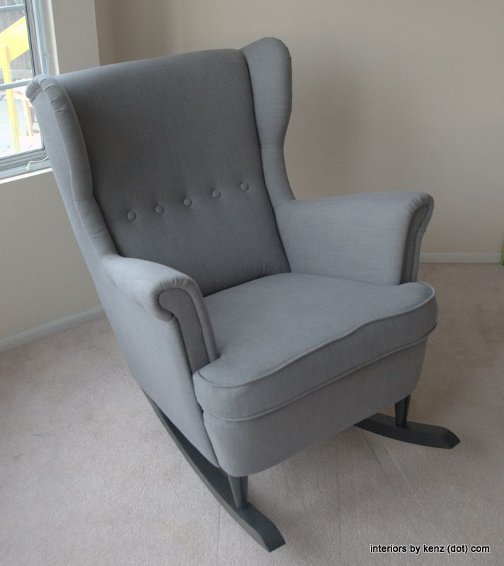 comfy nursing chair desk and ikea hack: strandmon rocker {diy wingback rocking chair} | a mod, rockers