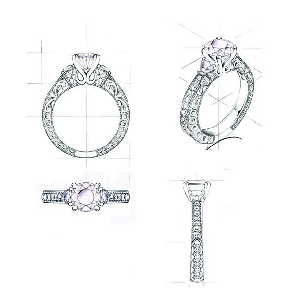 143 best images about Jewellery sketches on Pinterest